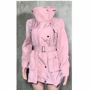 Burberry Womens Pink Trench Coat